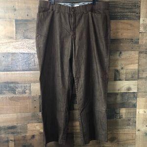 Lee Plus Size Brown Slacks Dress Pants